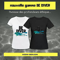 T-Shirts Be Diver par Ocean Geek